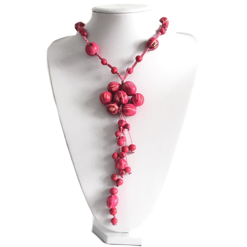 COLLAR NATURAL TAGUA ROSA