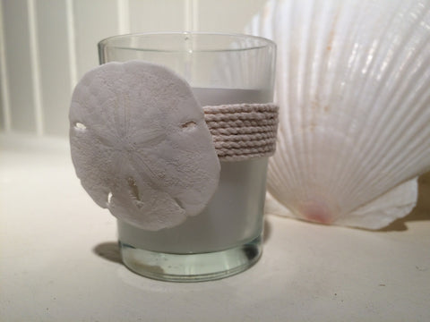 Sand Dollar Votive Candle