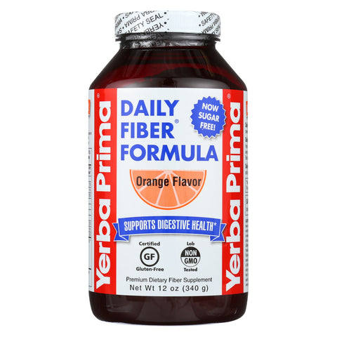 Yerba Prima Daily Fiber Formula - Orange - Case of 1 - 12 oz.