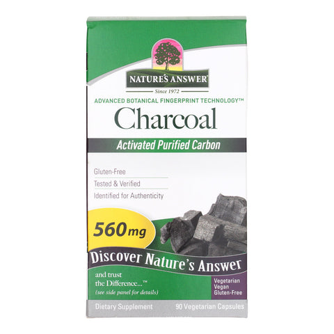 Natures Answer Charcoal - Activated Purified - 90 Softgels