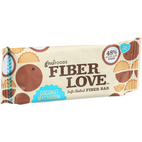 NuGo Nutrition Bar - Fiber dLish - Coconut Macaroon - 1.6 oz Bars - Case of 16