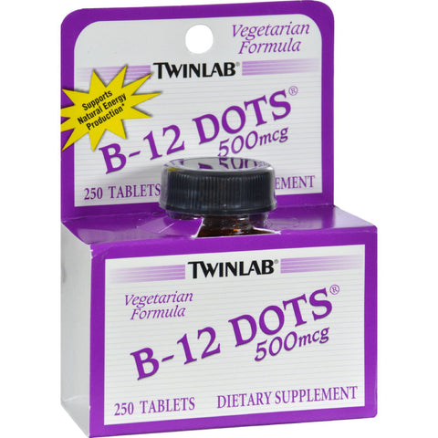 Twinlab B-12 Sublingual Dots - 500 mcg - 250 Tablets