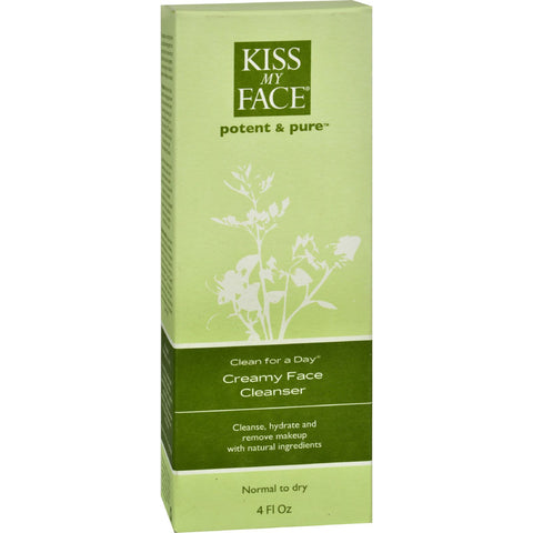 Kiss My Face Creamy Face Cleanser Clean For A Day - 4 fl oz