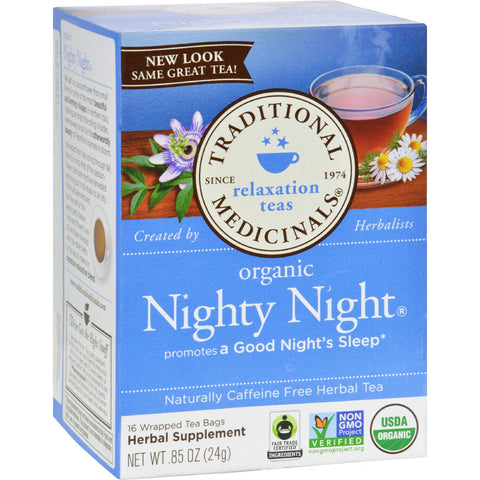 Traditional Medicinals Organic Nighty Night Herbal Tea - 16 Tea Bags - Case of 6