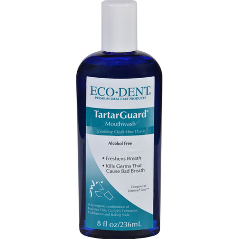 Eco-Dent Mouthwash - Premium Oral Care - TartarGuard - 8 oz