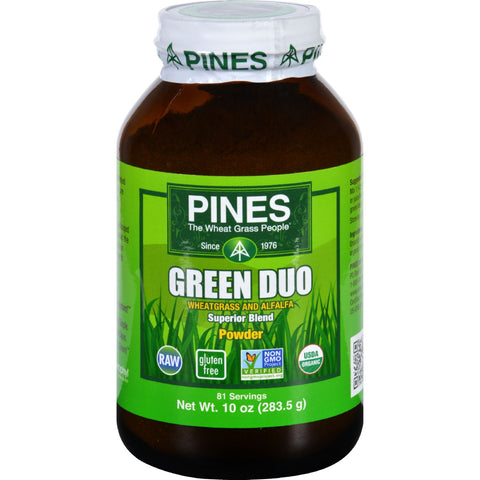 Pines International Green Duo - Organic - Powder - 10 oz