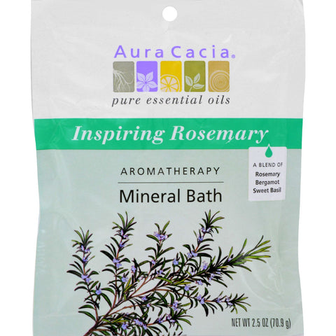 Aura Cacia Aromatherapy Mineral Bath Inspiration - 2.5 oz - Case of 6