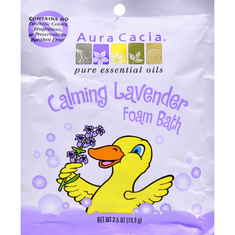Aura Cacia Calming Foam Bath Lavender Essential Oil - Case of 6 - 2.5 oz