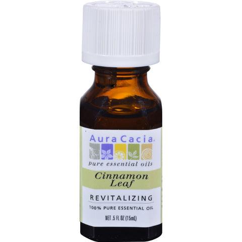 Aura Cacia Pure Essential Oil Cinnamon Leaf - 0.5 fl oz
