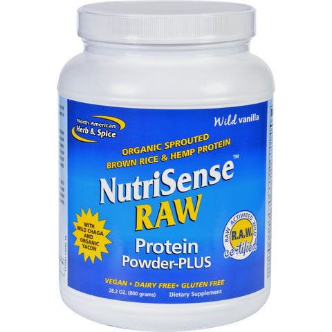 North American Herb and Spice Protein Powder - NutriSense - Raw - Plus - 28.2 oz