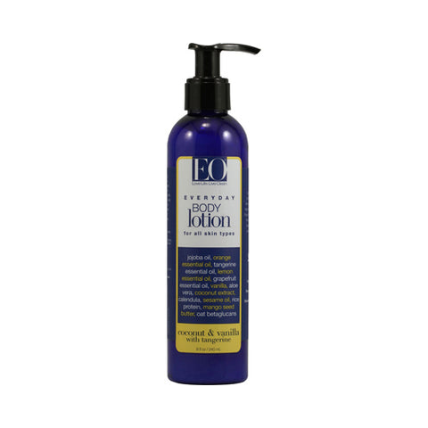 EO Products Everyday Body Lotion Coconut and Vanilla with Tangerine - 8 fl oz