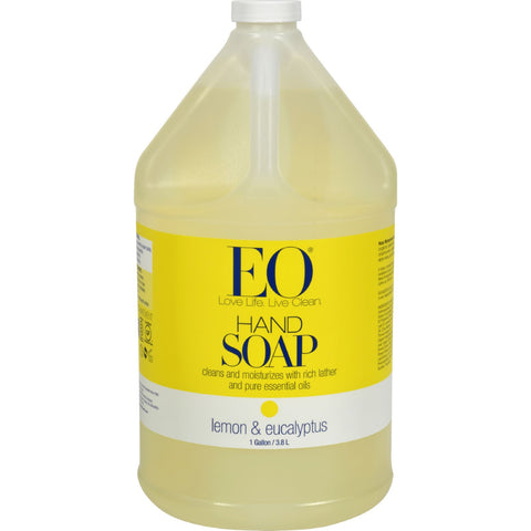 EO Products Liquid Hand Soap Lemon and Eucalyptus - 1 Gallon