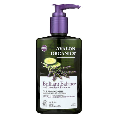 Avalon Brilliant Balance - Cleansing Gel - Case of 1 - 8 FL oz.