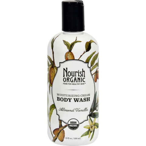 Nourish Organic Body Wash - Almond Vanilla - 10 fl oz