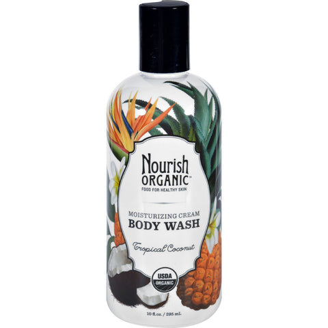 Nourish Body Wash - Organic - Tropical Coconut - 10 fl oz