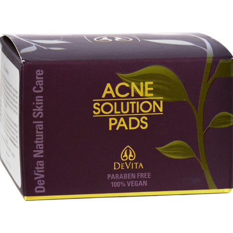 Devita Natural Skin Care Acne Solution Pads - 30 count - 2 oz