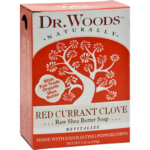 Dr. Woods Bar Soap Red Currant Clove - 5.25 oz