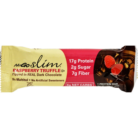 NuGO Nutrition Bar - Slim Raspberry Truffle - 1.59 oz - Case of 12