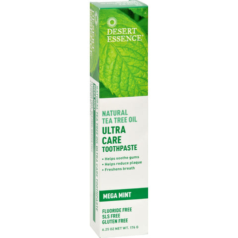 Desert Essence Toothpaste - Tea Tree U/Care Mint - 6.25 oz