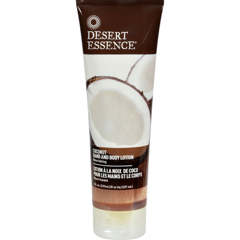 Desert Essence Hand and Body Lotion Coconut - 8 fl oz