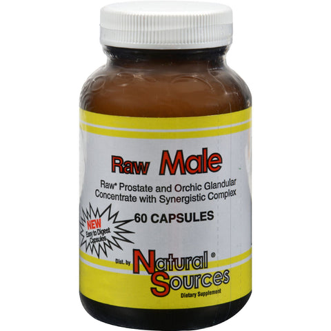 Natural Sources Raw Male - 60 Capsules