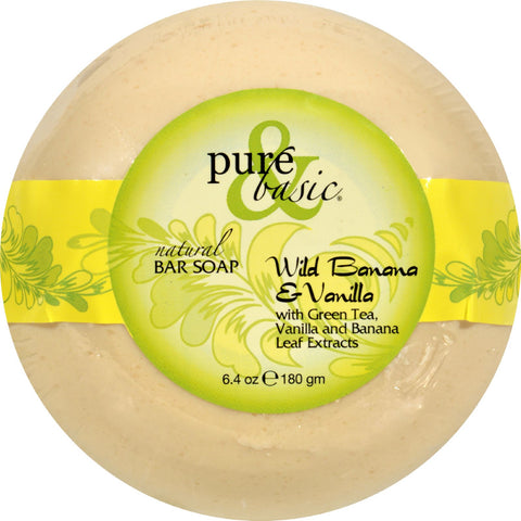 Pure and Basic Bar Soap - Wild Banana Vanilla - Case of 6 - 6.4 oz