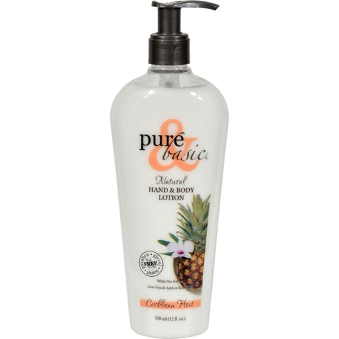Pure and Basic Natural Bath and Body Lotion Caribbean Heat - 12 fl oz