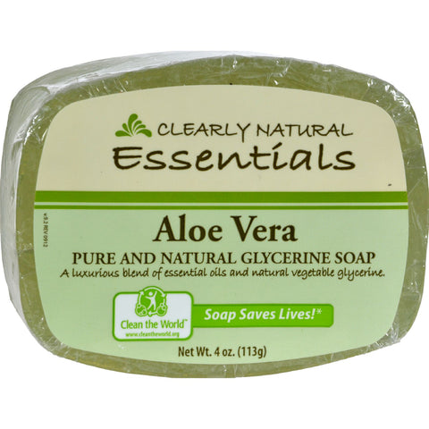 Clearly Natural Glycerine Bar Soap Aloe Vera - 4 oz