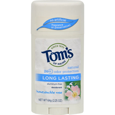 Tom's of Maine Natural Deodorant Aluminum Free Honeysuckle Rose - 2.25 oz - Case of 6