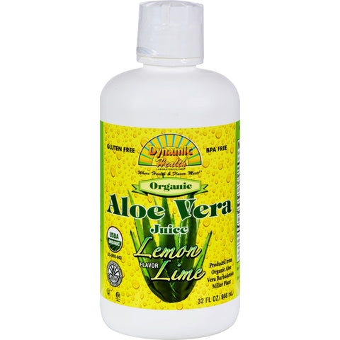 Dynamic Health Organic Aloe Vera Juice Lemon Lime - 32 fl oz
