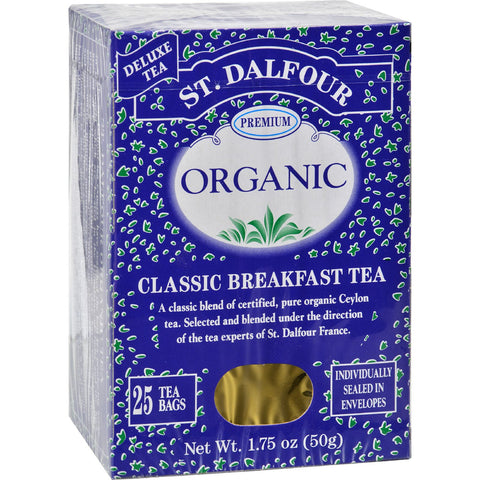 St Dalfour Organic Tea Classic Breakfast - 25 Tea Bags - Case of 6
