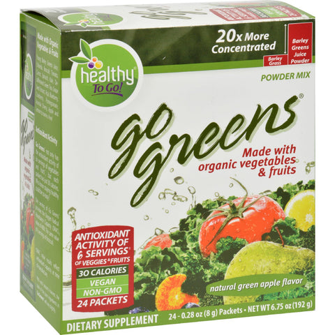 To Go Brands Go Greens Fruit - 24 Packets
