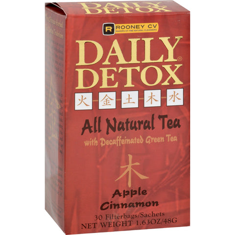 Wellements Rooney CV Daily Detox All Natural Decaffeinated Tea Apple Cinnamon - 30 Sachet