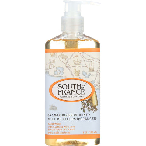 South Of France Hand Wash - Orange Blossom Honey - 8 oz - 1 each