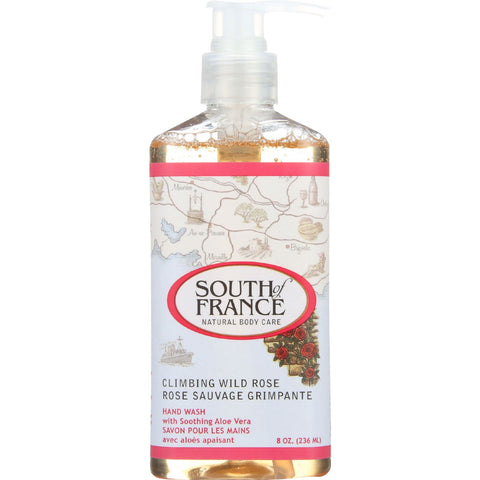 South Of France Hand Wash - Climbing Wild Rose - 8 oz - 1 each