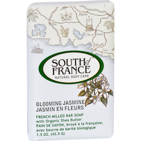 South of France Bar Soap - Blooming Jasmine - Travel - 1.5 oz - Case of 12