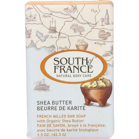 South Of France Bar Soap - Shea Butter - Travel - 1.5 oz - case of 12