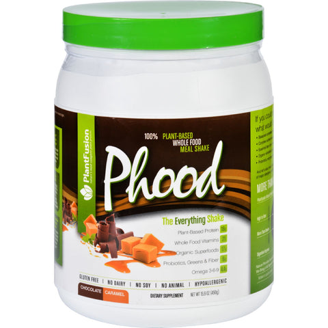 PlantFusion Phood Shake - Powder - Chocolate Caramel - 15.9 oz