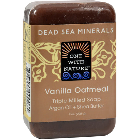One With Nature Dead Sea Mineral Vanilla Oatmeal Soap - 7 oz