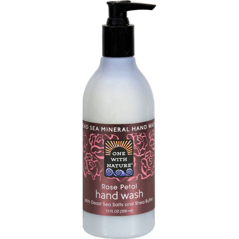 One With Nature Dead Sea Hand Wash - Rose - 12 oz