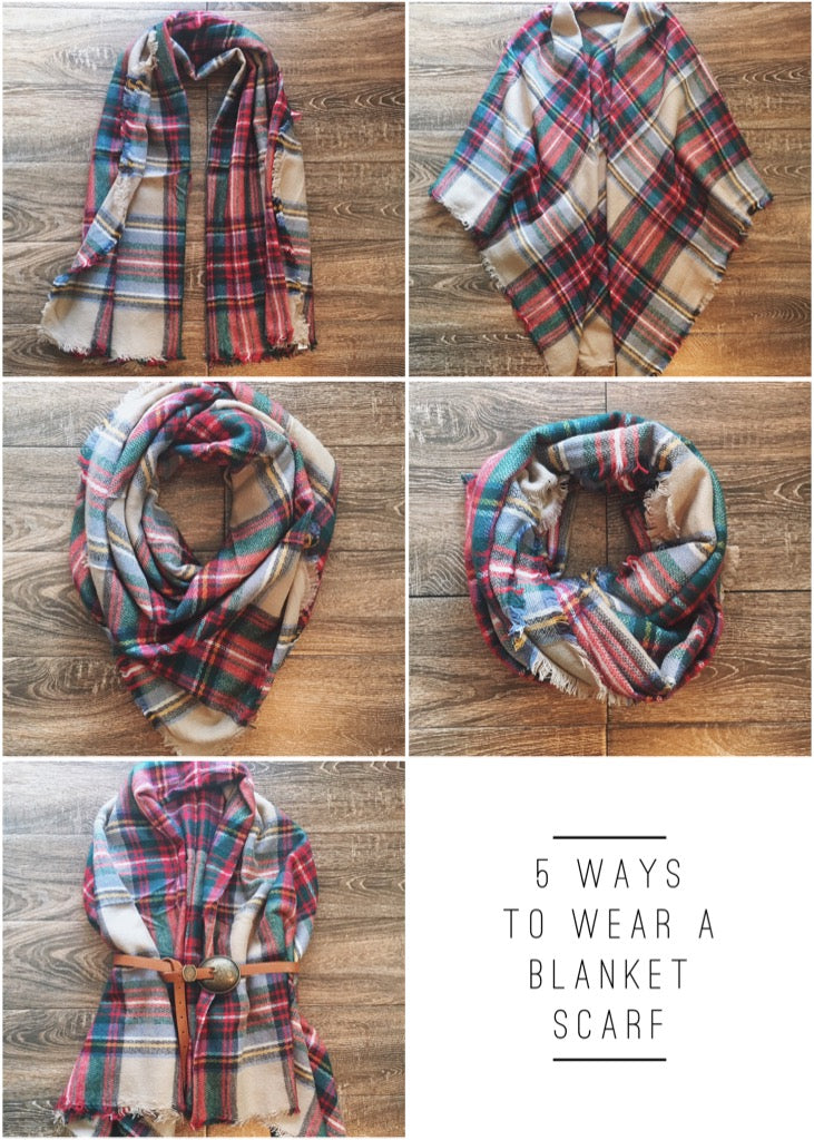 5 Ways To Wear A Blanket Scarf