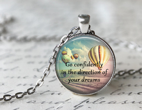 Go Confidently In The Direction Of Your Dreams Necklace - Livin' Freely  - 1