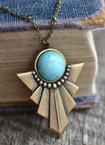 Turquoise Deco Necklace - Livin' Freely  - 2