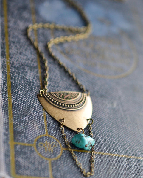 Boho Shield Necklace - Livin' Freely  - 1