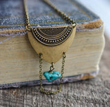 Boho Shield Necklace - Livin' Freely  - 3
