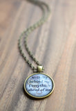 Nothing Behind Me Everything Ahead of Me Quote Necklace - Livin' Freely  - 3