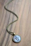 To Travel Is To Live Quote Necklace - Livin' Freely  - 3