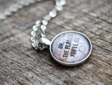 Oh The Places You'll Go Quote Necklace - Livin' Freely  - 2