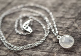 Dainty Moonstone Necklace - Livin' Freely  - 3