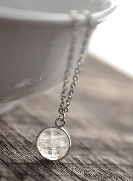 Dainty Moonstone Necklace - Livin' Freely  - 1